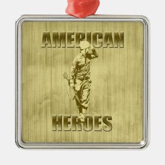 Veterans are American Heroes Christmas Ornament