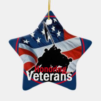 Veterans Ceramic Star Decoration
