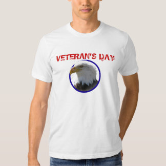 Veteran's Day Bald Eagle in Blue Circle T Shirts