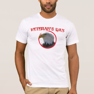 Veteran's Day Bald Eagle in Red Circle T-Shirt