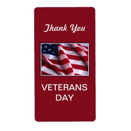 Veterans Day Celebration, Flag on Red