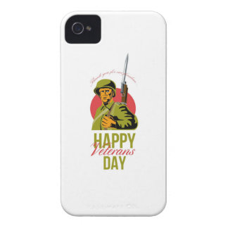 Veterans Day Greeting Card American WWII Soldier Case-Mate iPhone 4 Case