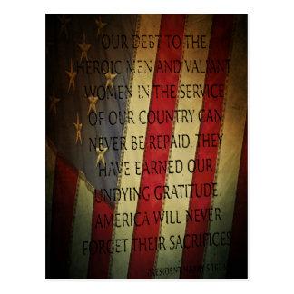 Veterans Day Harry S. Truman Postcard