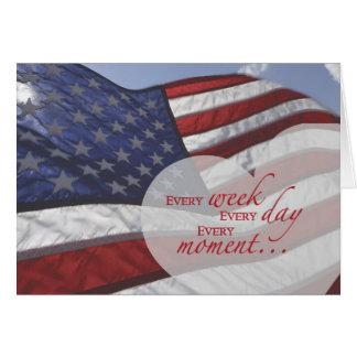 Veteran's Day Heart on Flag Card