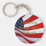 Veterans Day Honouring those who Served Basic Round Button Key Ring