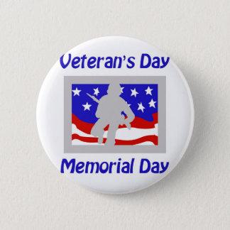 Veteran's Day/Memorial Day 6 Cm Round Badge