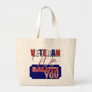 Veteran's day memorial war soldier tote bag