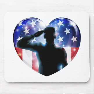Veterans day soldier or 4th July concept Mouse Pads