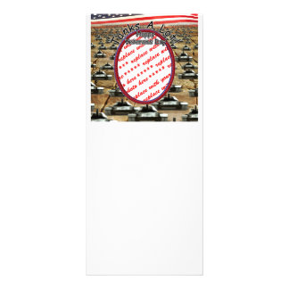 "Veterans Day - "" Tanks A Lot ""Photo Frame Rack Card Design"