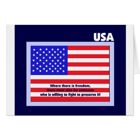 Veterans Day Thank You Card -- American Flag