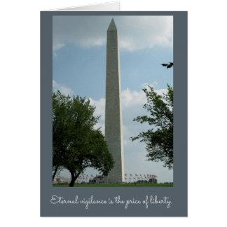 Veteran's Day Washington Monument Greeting Card