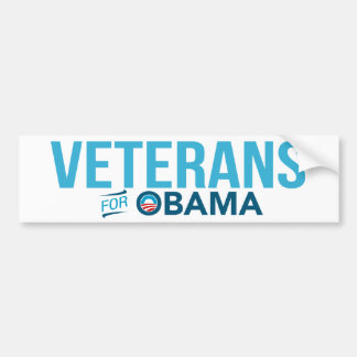 Veterans For Barack Obama Bumper Sticker