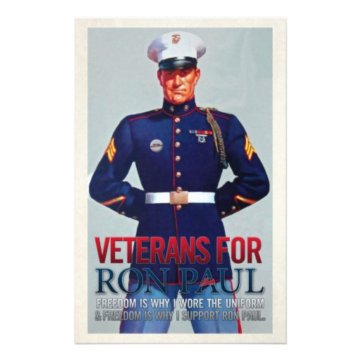 Veterans for Ron Paul Flyers