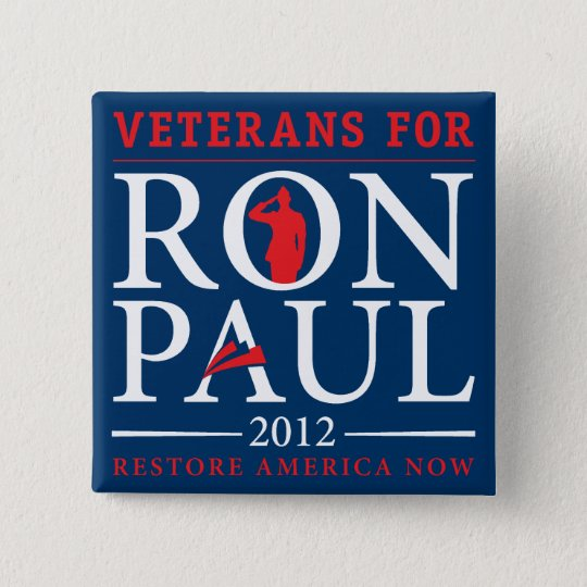 Veterans for Ron Paul Retro Button