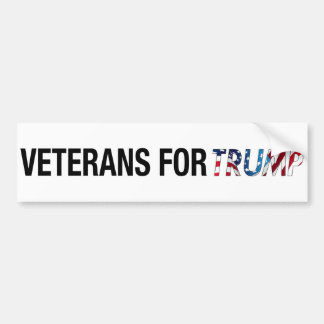 Veterans For Trump Bumper Sticker