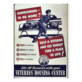 Veterans' Housing Centre 21.5 Cm X 28 Cm Flyer
