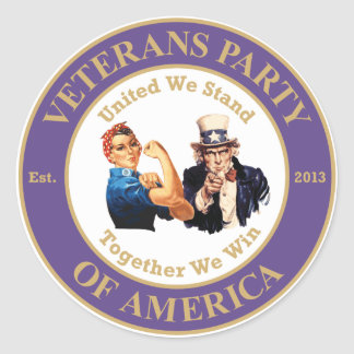 Veterans Party of America Circle Logo Sticker