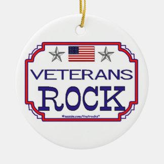 Veterans Rock Round Ceramic Decoration