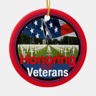 Veterans Round Ceramic Decoration