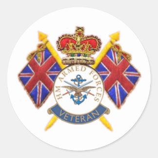 Veteran's Round Sticker