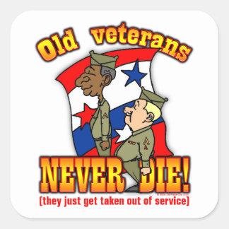 Veterans Square Sticker