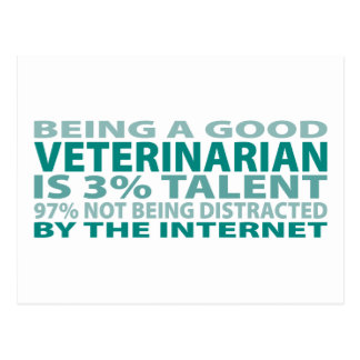 Veterinarian 3% Talent Postcard