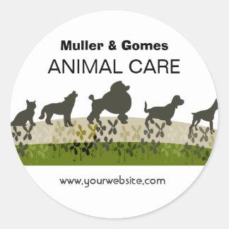 Veterinarian Animal Care Appointment Reminder Round Sticker