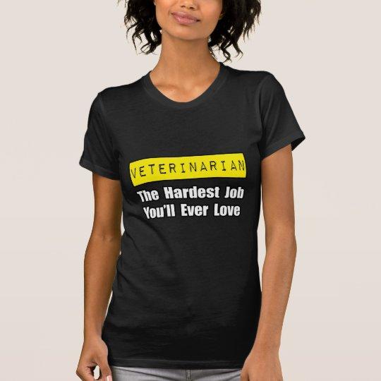 Veterinarian...Hardest Job You'll Ever Love T-Shirt