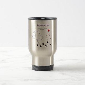 Veterinarian-Paw prints on my heart Stainless Steel Travel Mug