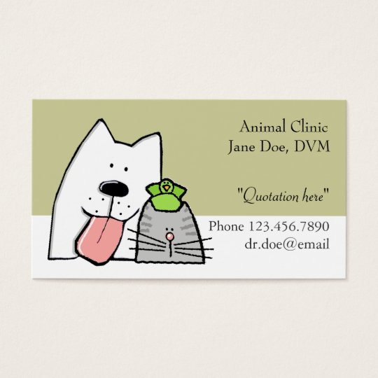 Veterinarian, Pet Care Pro, Customise Business Card