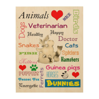 Veterinarian Picture for Clinic Wood Canvas