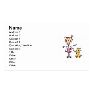 Veterinarian Stick Figure Business Card Templates