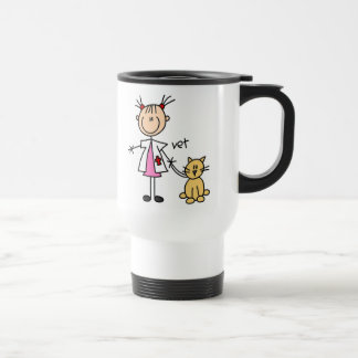Veterinarian Stick Figure Travel Mug