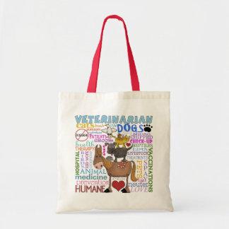 Veterinarian-Subway Art Vet Terms Budget Tote Bag
