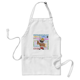 Veterinarian-Subway Art Vet Terms Standard Apron