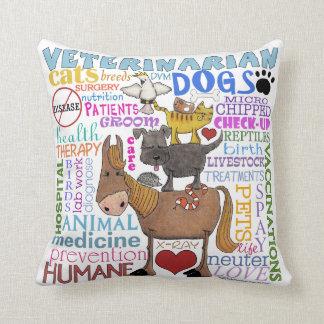 Veterinarian-Subway Art Vet Terms Throw Pillows