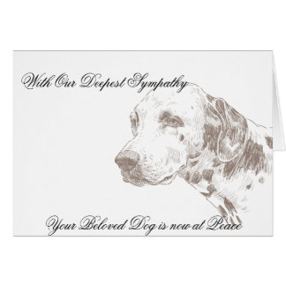 Veterinarian Sympathy Card for Dog Owner