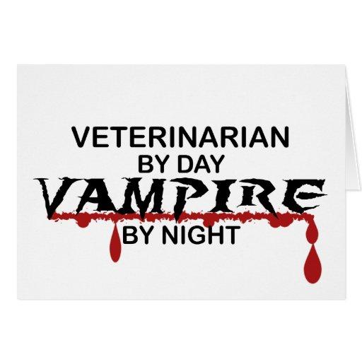 Veterinarian Vampire by Night Greeting Card