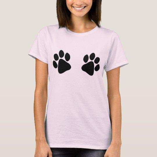 Veterinarians Assistant Big Black Paw Prints Funny T-Shirt