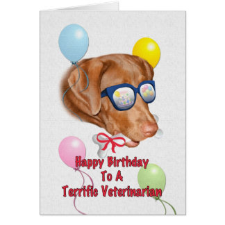 Veterinarian's Birthday Card with Lab Dog