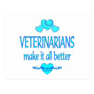 Veterinarians Make it Better Postcard