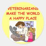 veterinarians round sticker