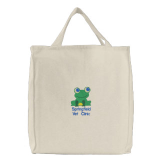 Veterinary Clinic Froggy Embroidered Tote Bags