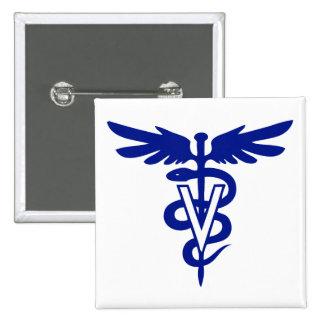 veterinary logo 4 15 cm square badge