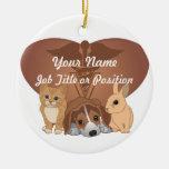 Veterinary Medicine Double-Sided Ceramic Round Christmas Ornament