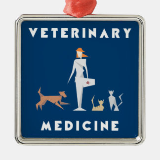 Veterinary Medicine Geometric Woman Christmas Ornament