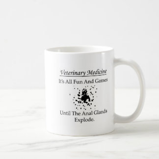Veterinary Medicine - It's all fun and games until Basic White Mug