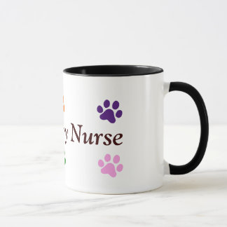 Veterinary Nurse-Colorful Paw Prints Mug