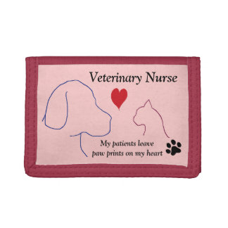 Veterinary Nurse - Paw Prints on My Heart #2 Trifold Wallets