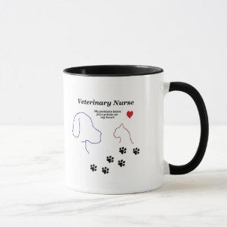 Veterinary Nurse-Paw Prints on My Heart Mug